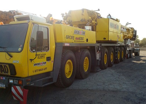 Used All Terrain Crane For Sale Grove GMK6350B