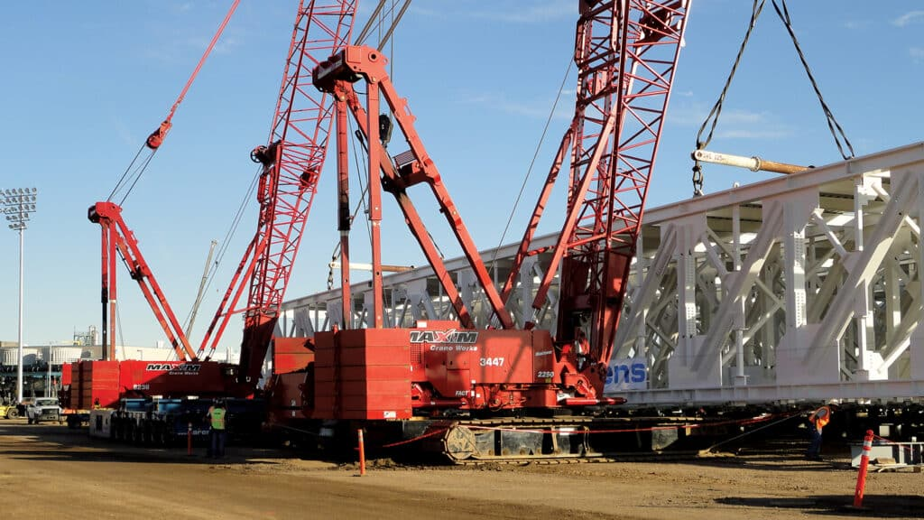 Rental Crawler Crane Dual Lift